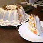 бланманже с персиками фото