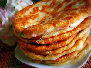 лепешки с сыром и ветчиной фото