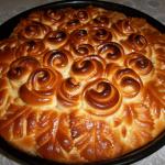 пирог с яблоками и вареньем фото
