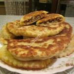 пирожки из сырного теста с мясным фаршем фото