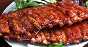 свиные ребрышки в духовке рецепт фото