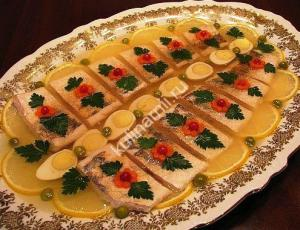 Заливная рыба рецепт