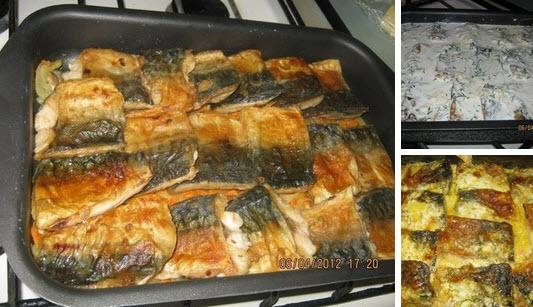 Рецепт скумбрии в духовке в фольге с морковью и луком и