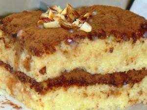 Бисквитный торт пропитанный сгущенкой фото