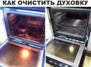 Как чистит духовку фото