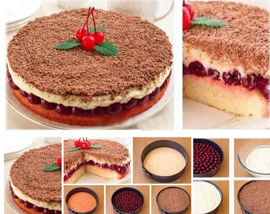 Вишневый пирог фото