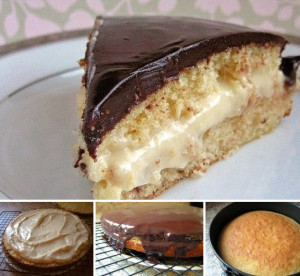 Бостонский кремовый торт фото