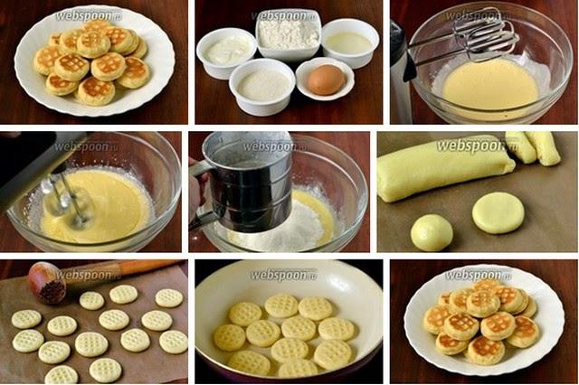 Простое в приготовлении печенье на сковороде