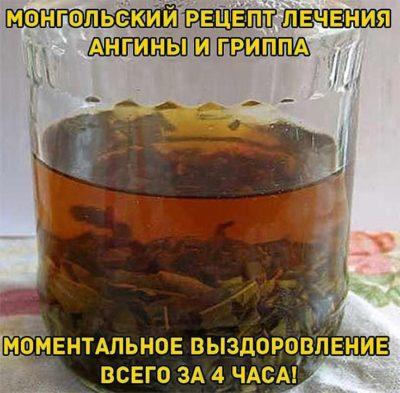 МОНГОЛЬСКИЙ РЕЦЕПТ ЛЕЧЕНИЯ АНГИНЫ И ГРИППА