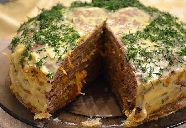 Замечательный печеночный торт