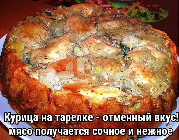 Курица на тарелке