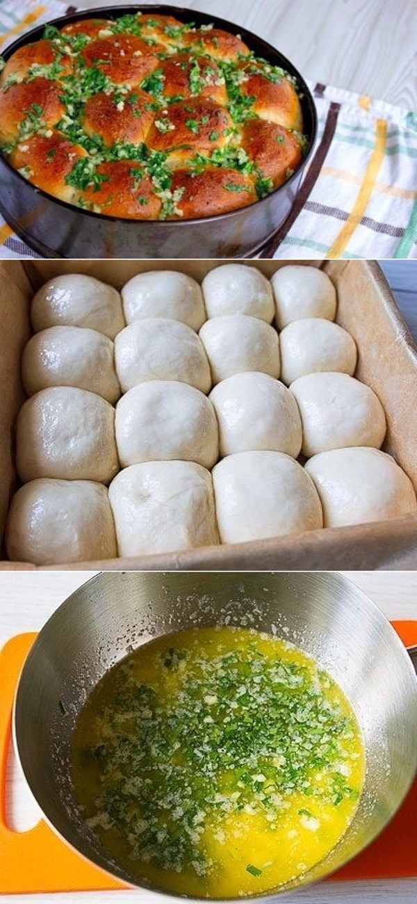Пампушки к борщу за 20 минут