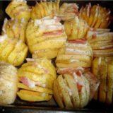 Резной запечённый картофель с сыром и ветчиной - самый вкусный и красивый