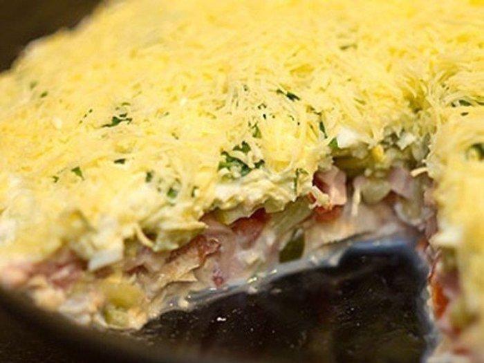 Нежный и невероятно вкусный слоеный салат Русская красавица