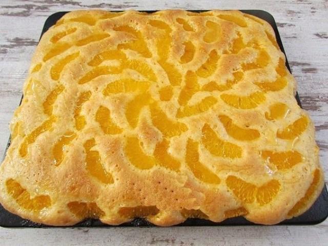 """Пирог """"Мандариновые облака"""". Очень нежный, очень вкусный, настоящее чудо!"""