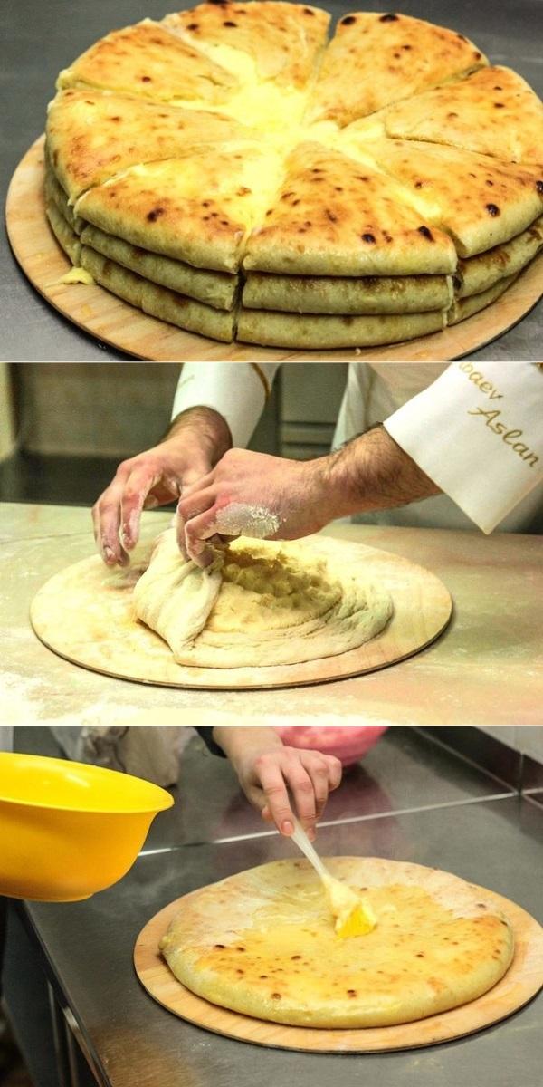 Уалибах (олибах) - осетинский пирог с сыром1