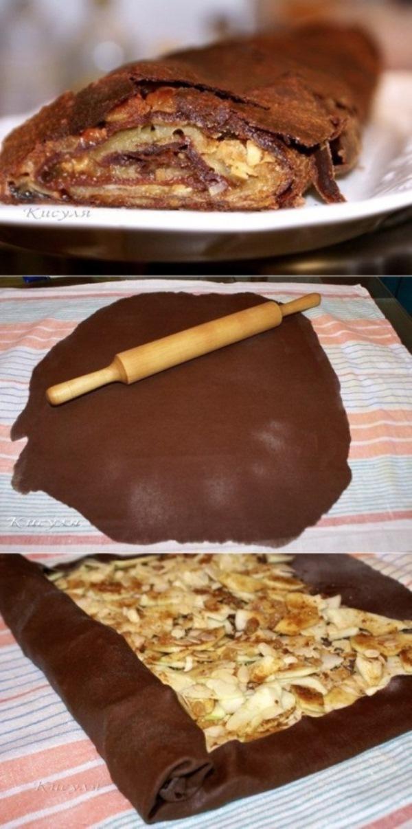 Шоколадный штрудель мои уплетают за обе щеки. Великолепная выпечка. Делюсь проверенным рецептом.