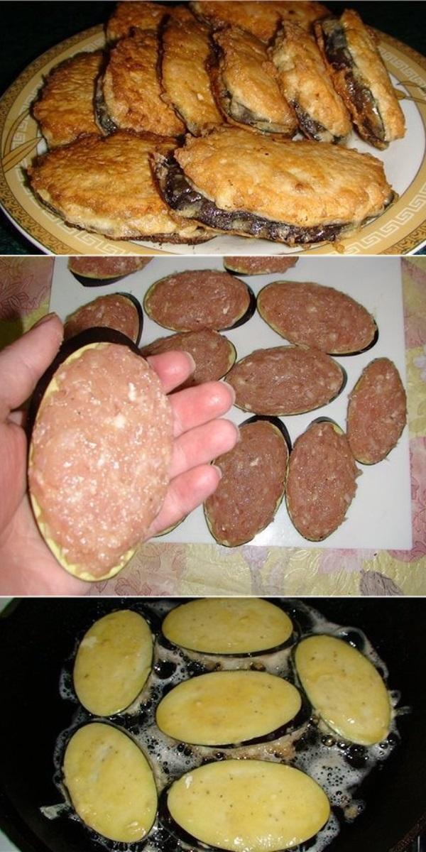 Жареные баклажаны под мясом. Просто и вкусно!