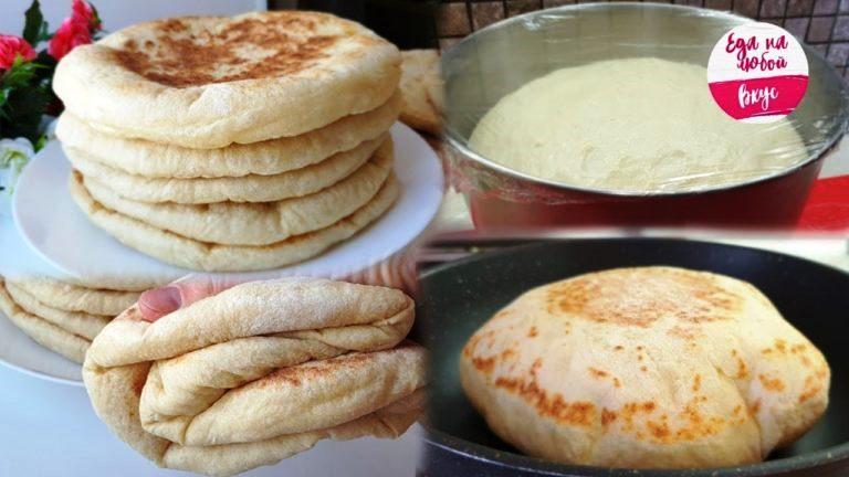 Базлама – лепешки, вместо хлеба. Мягкие и воздушные!