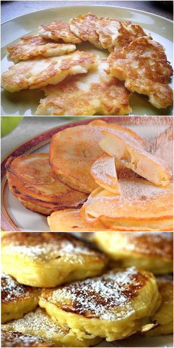 Яблочные оладьи - моментальный рецепт