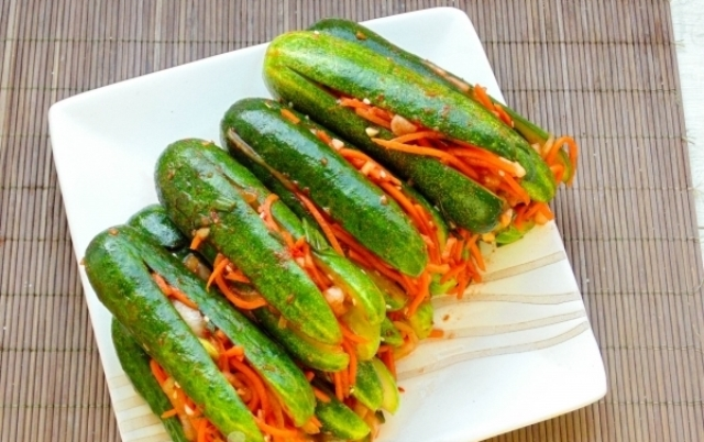 Изумительно вкусные огурцы по-корейски