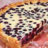 Волшебный десерт - песочный пирог с черникой