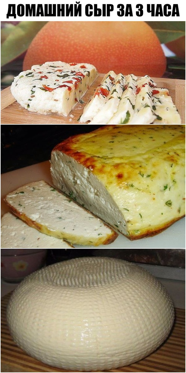 Домашний сыр за 3 часа, которого много не бывает