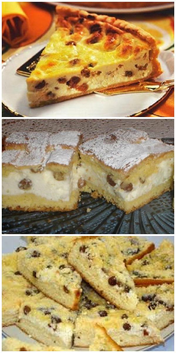 Простой, быстрый и вкусный творожный пирог с изюмом