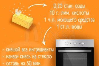 Простое средство для очищение духовки от жира и нагара.