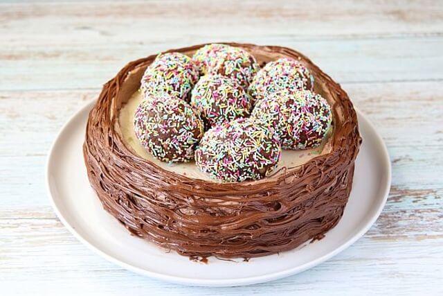 Пасхальный торт «Гнёздышко». ОТ НИХ ЕЩЕ НИКТО НЕ ОТКАЗАЛСЯ!