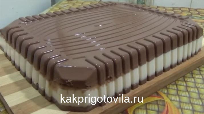 Торт «Птичье молоко» без выпечки. Очень вкусный, особенно детки любят!