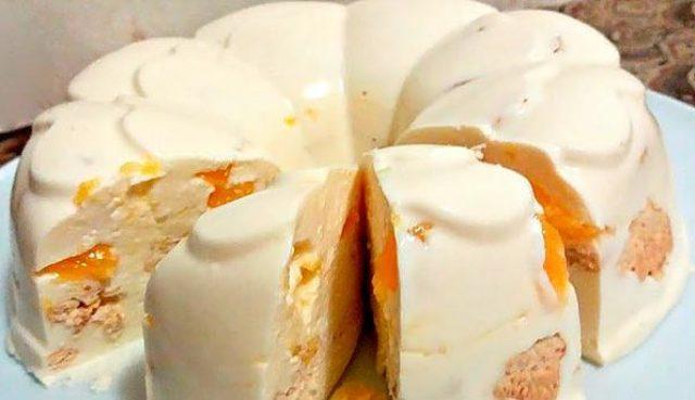 Нежный тортик без выпечки с массой пользы
