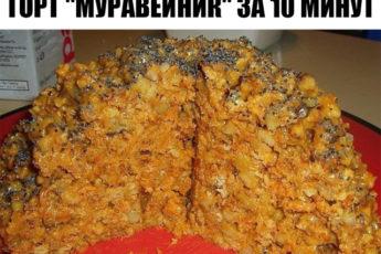 "Торт ""Муравейник"" за 10 минут"