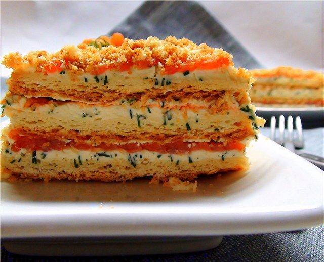 """«НАПОЛЕОН"""" ЗАКУСОЧНЫЙ Этот красивый закусочный тортик украсит любой праздник в вашем доме!"""
