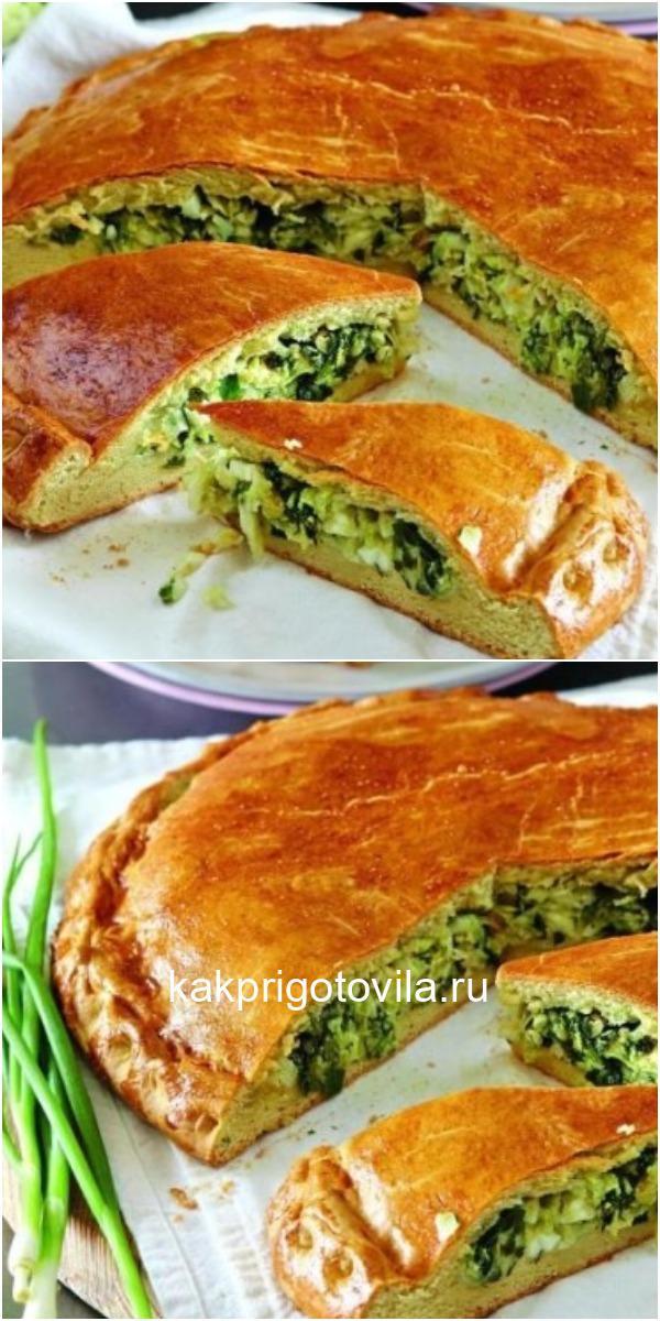 Луковый пирог (такой пирог можно сделать и с капустой)