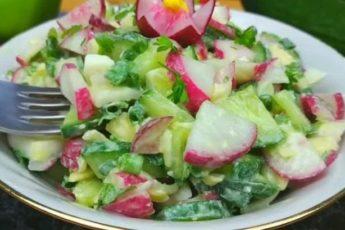 Уже 4 ДНЯ подряд готовлю такой салат из РЕДИСКИ - НЕ НАДОЕДАЕТ!