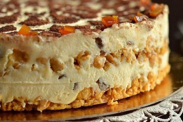Торт из творога без выпечки