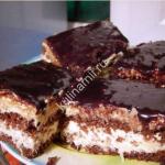 домашний шоколадный кокосовый торт фото