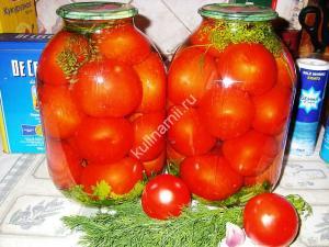помидоры на зиму рецепт с фото