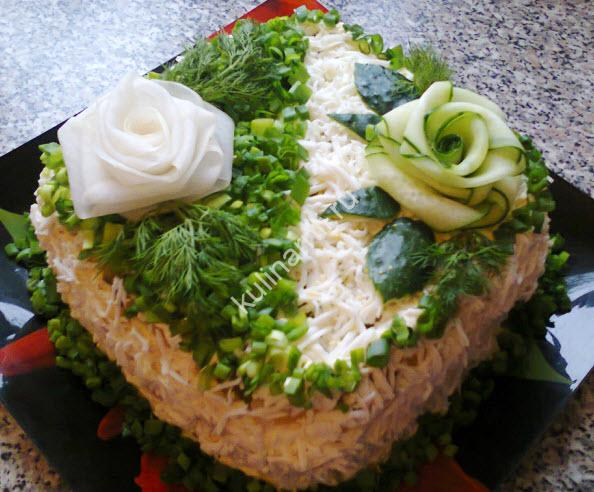 салат с курицей и кукурузой фото