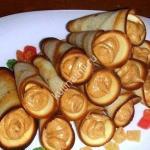 Трубочки с ореховым кремом фото
