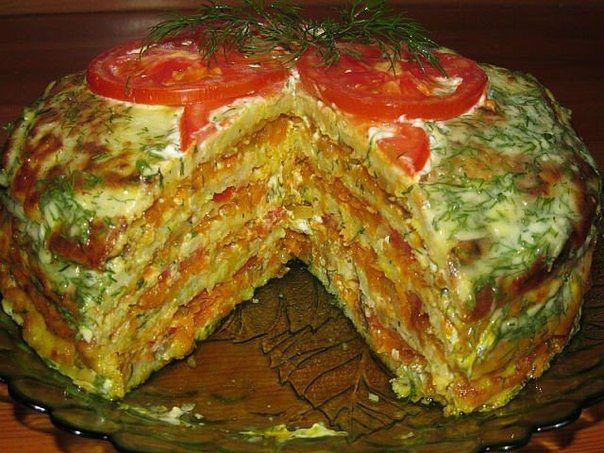 Капустный торт фото