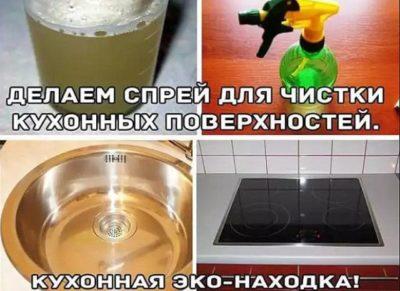 Делаем спрей для чистки кухонных поверхностей