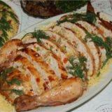 Курица фаршированная ветчиной и сыром