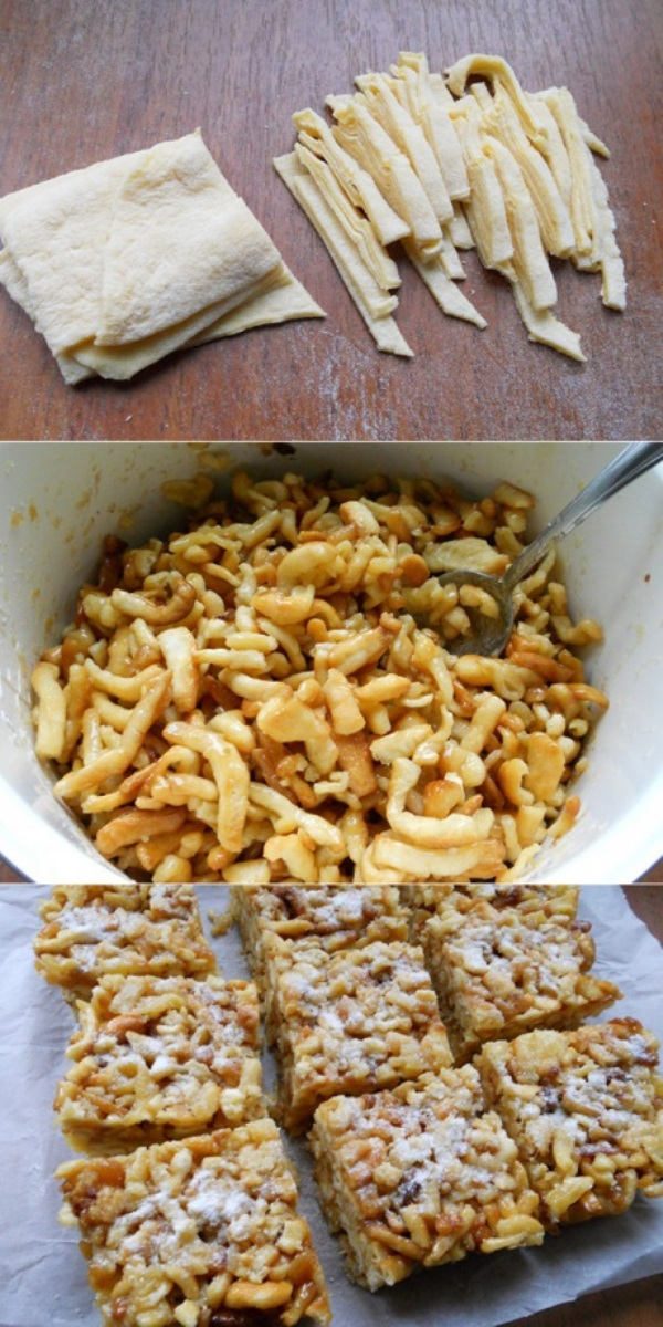 Чак-чак — вкусная восточная сладость, приготовленная из теста и меда.1