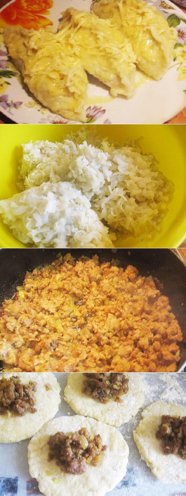 Картофельные колдуны с мясным фаршем