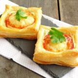 """Слойки """"Телеграммки"""" с помидорами, ветчиной и сыром - когда гости на пороге"""
