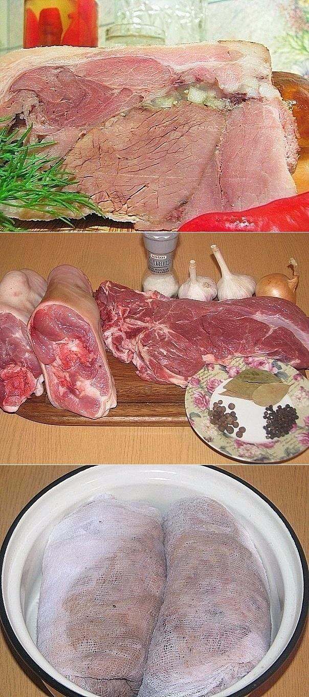 Рулька свиная запеченая