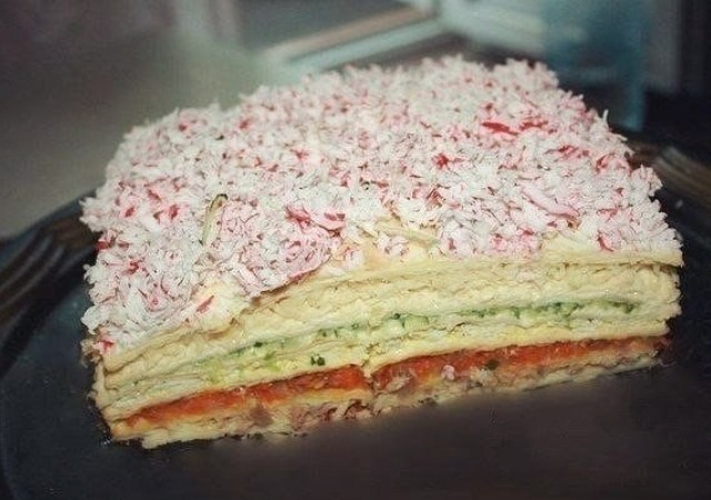 Закусочный торт Рыбный