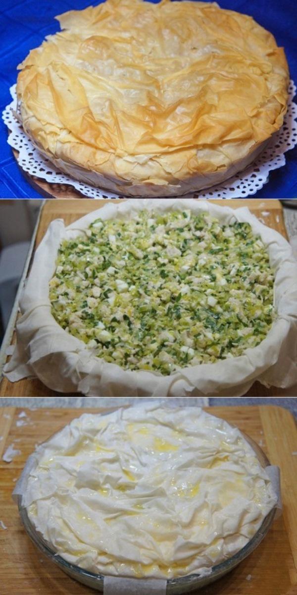 Пирог с курицей хорош как теплым, так и холодным. Очень сытный, с бесподобным хрустящим тестом.